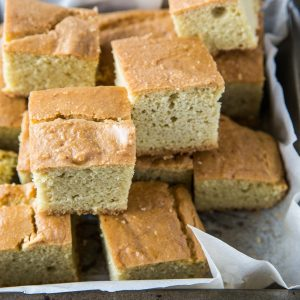 """Paleo Cornbread (with a Keto Option) - Fluffy, moist """"cornbread"""" made with almond flour for a low-carb bread option. 