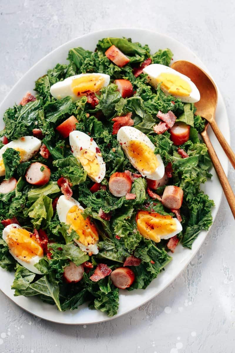 Easy Kale Breakfast Salad from Primavera Kitchen + Keto Recipes for the New Year