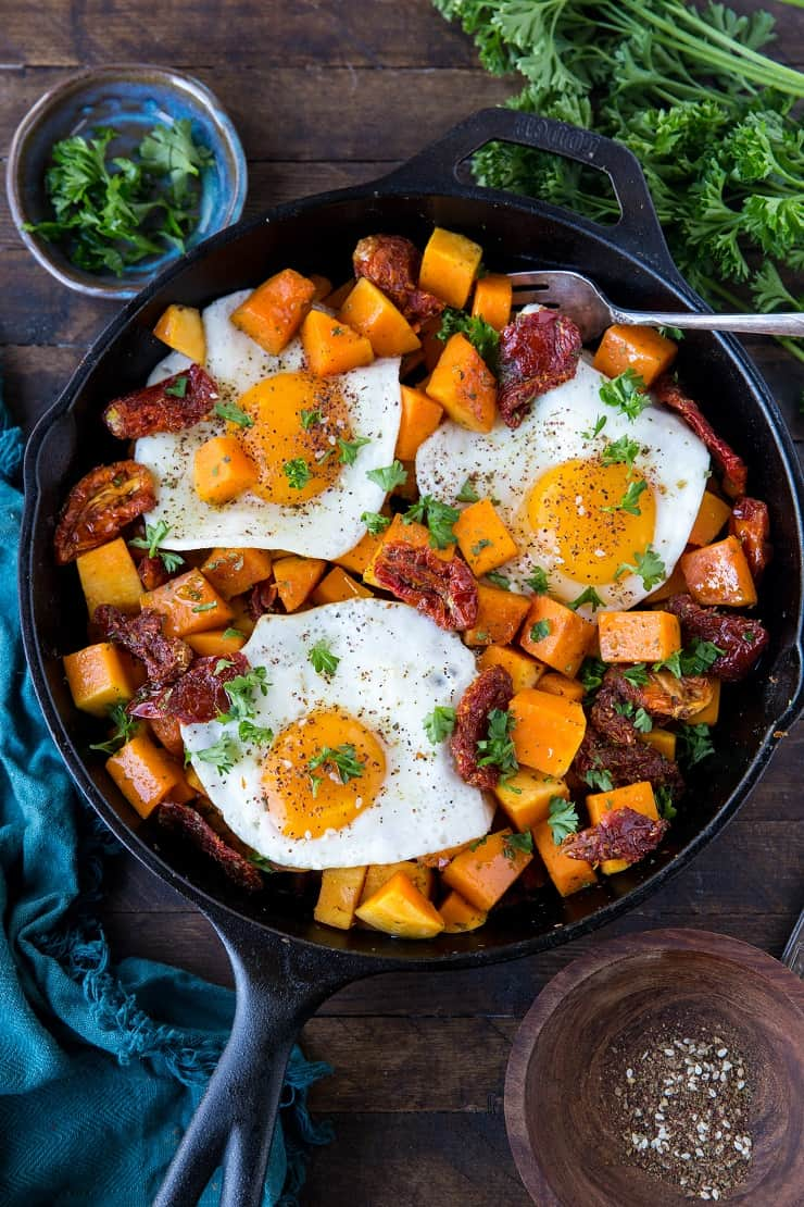 Butternut Squash & Bacon Breakfast Hash - clean, healthy, paleo, whole30, delicious | TheRoastedRoot.net