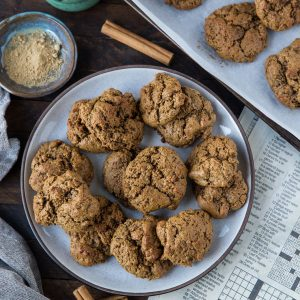 Paleo Ginger Molasses Cookies - soft and chewy cookies perfect for sharing over the holiday season. Grain-free, refined sugar-free, easy to prepare and delicious   TheRoastedRoot.net