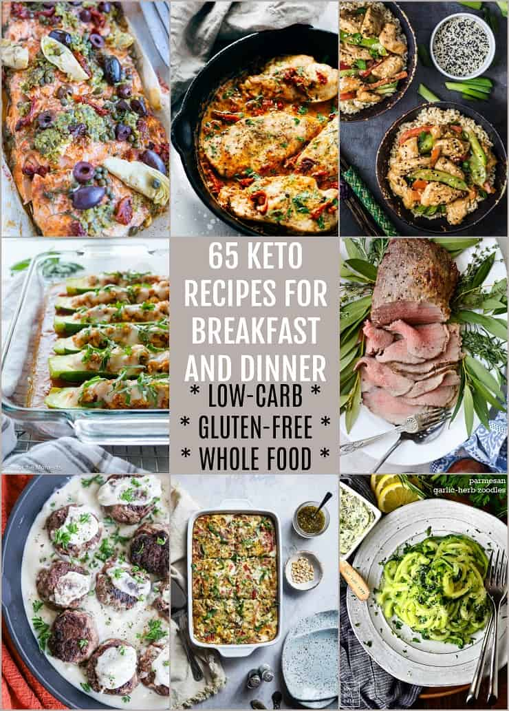 65 Keto Recipes for Breakfast and Dinner | TheRoastedRoot.net #lowcarb #glutenfree