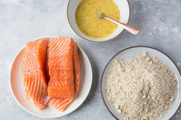 How to make Almond Crusted Salmon