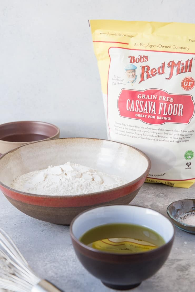Cassava flour tortillas ingredients
