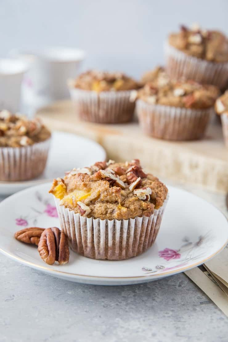 Paleo Hummingbird Muffins - grain-free, naturally sweetened, dairy-free, oil-free, and delicious! | TheRoastedRoot.com #glutenfree