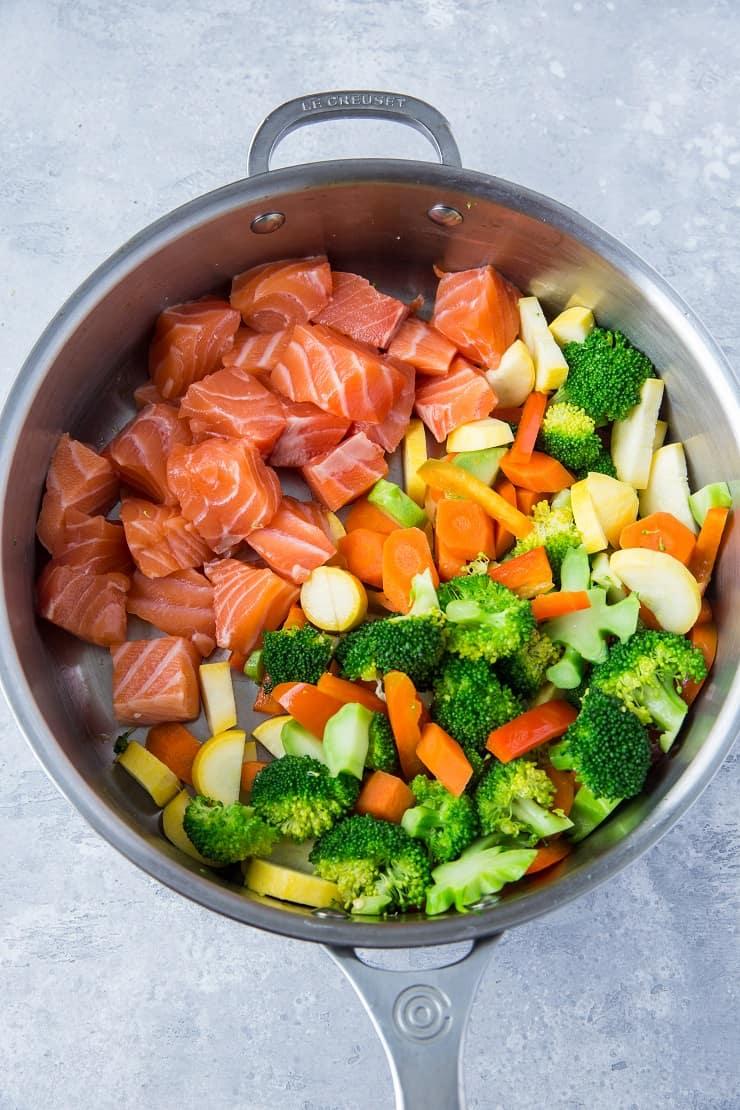 Prep Shot - Salmon Stir Fry