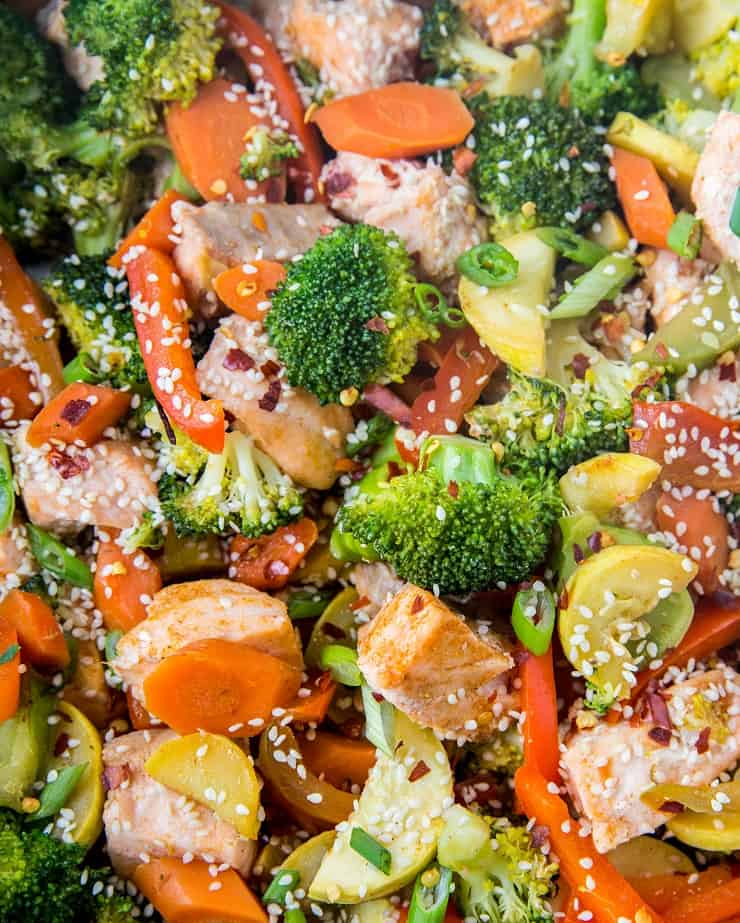 salmon stir fry with vegetables the roasted root. Black Bedroom Furniture Sets. Home Design Ideas