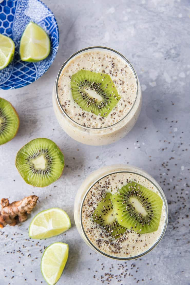 urmeric Kiwi Protein Smoothie | TheRoastedRoot.net