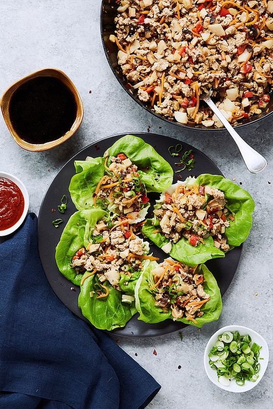 Keto Asian Chicken Lettuce Wraps from Tasty Yummies #paleo #lowcarb
