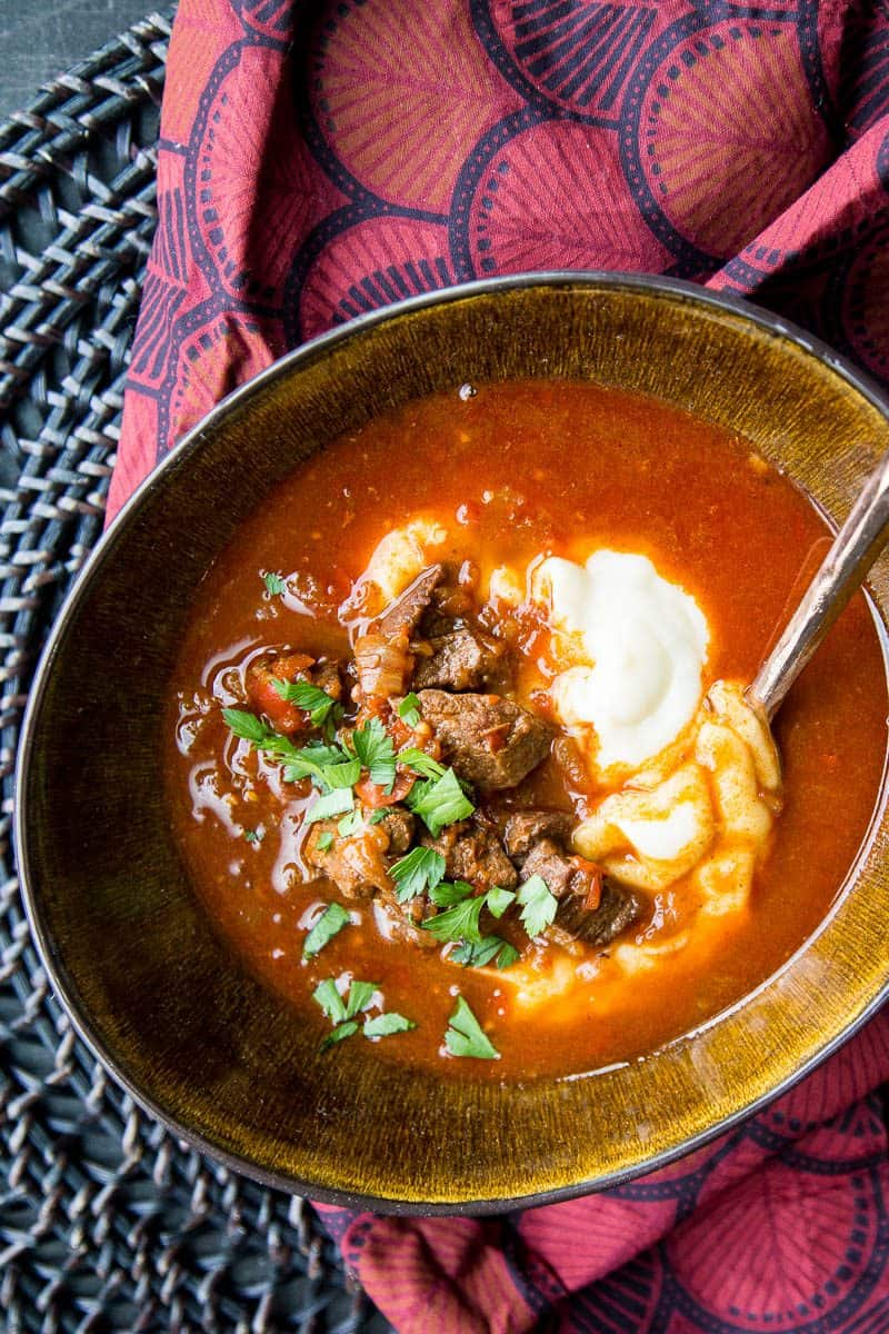 Paleo Instant Pot Hungarian Goulash from Perry's Plate