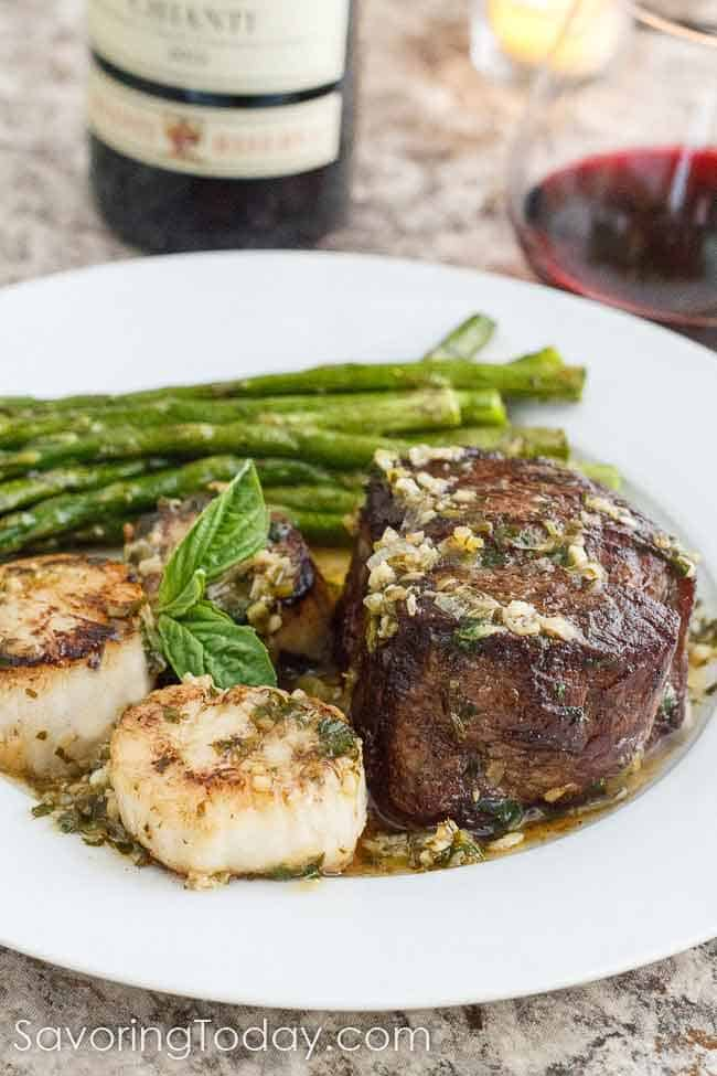 Scampi Steak and Scallops #paleo #whole30 #keto #lowcarb