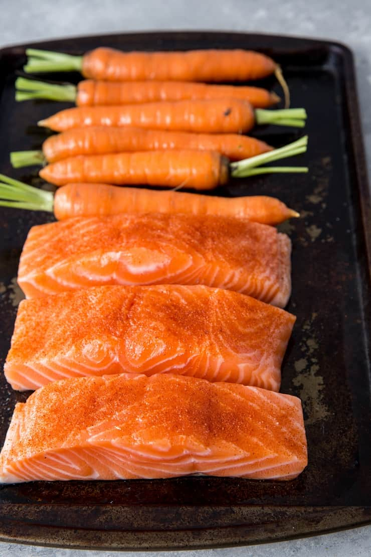 How to make sheet pan salmon and carrots