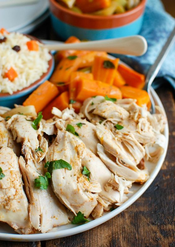 Slow Cooker Mediterranean Whole Chicken