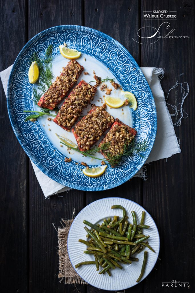 Smoked Walnut Crusted Salmon is a deliciously tender fish recipe with an amazing crusted topping.