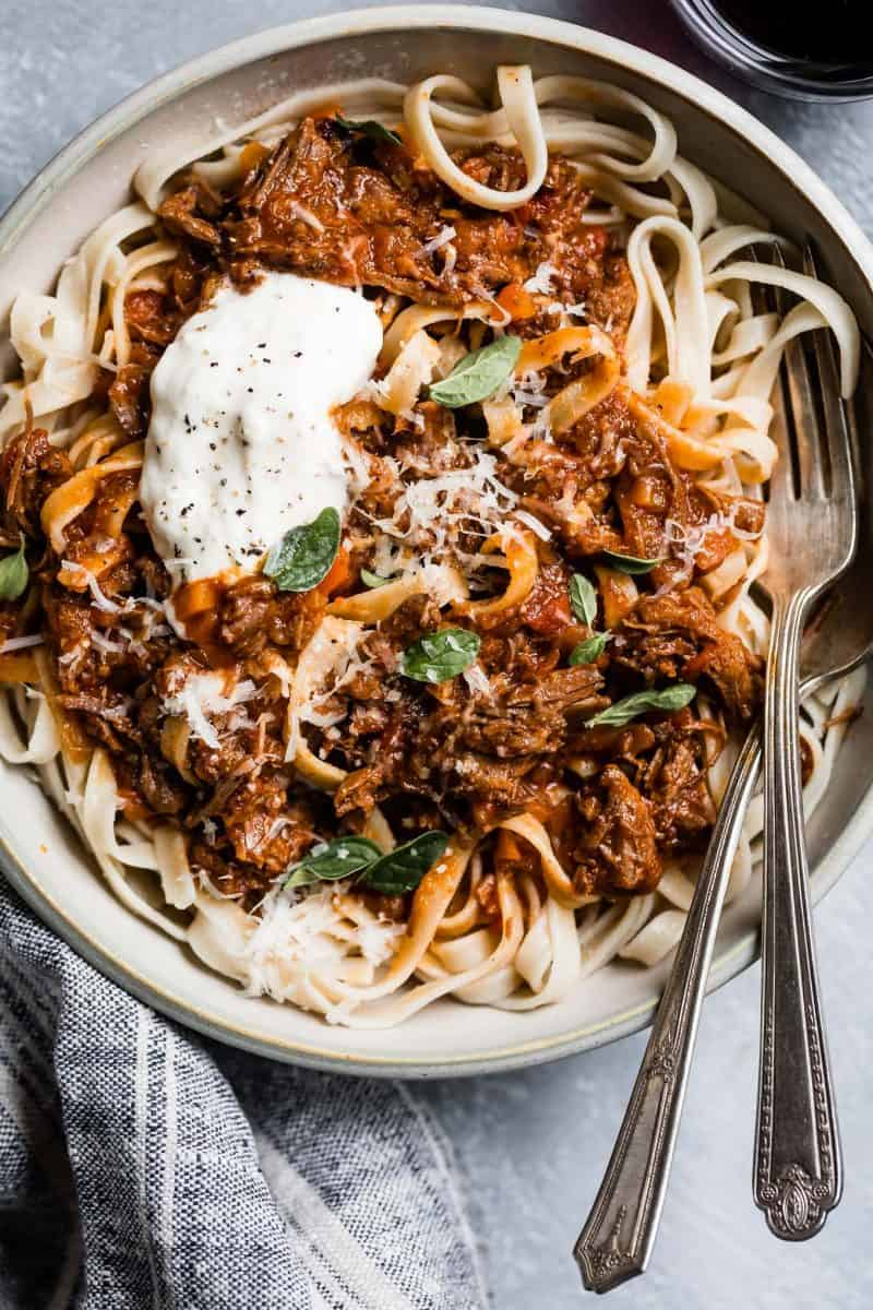 Weeknight Instant Pot Beef Ragu from Snixy Kitchen