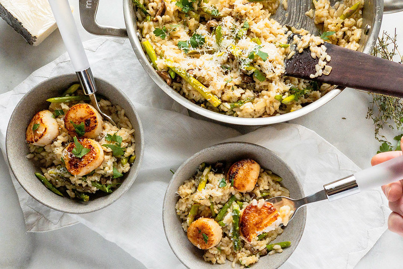 Risotto with Pan-Seared Scallops