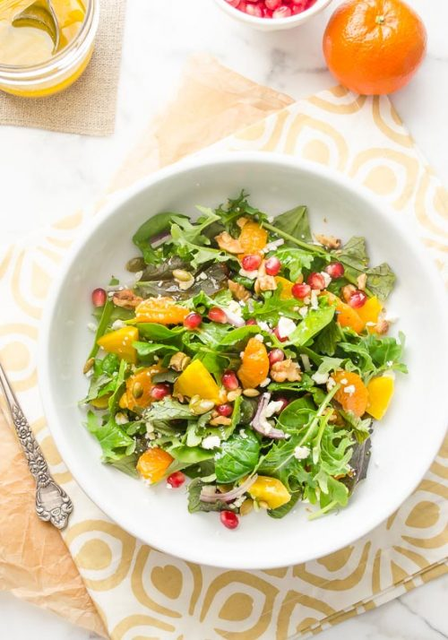 Golden Beet Orange Pomegranate Salad