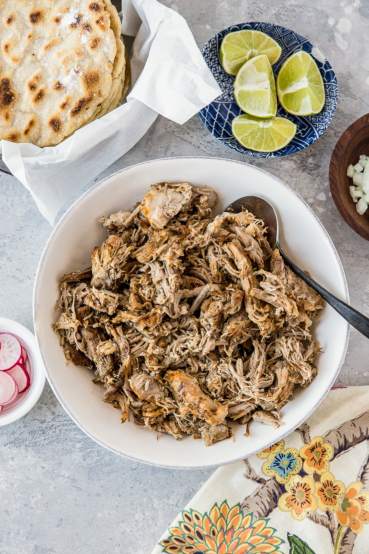 Instant Pot Carnitas recipe - the easiest, most delicious recipe for shredded pork!