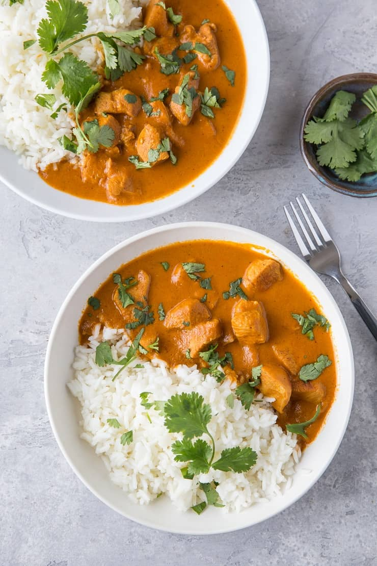 Instant Pot Paleo Chicken Tikka Masala - an easy approach to the Indian classic that tastes just like restaurant tikka masala! | TheRoastedRoot.com