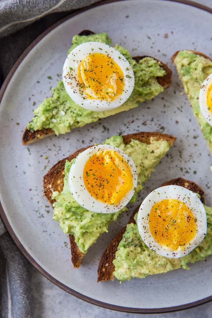 Avocado toast with soft boiled egg - How to make soft boiled eggs in the Instant Pot
