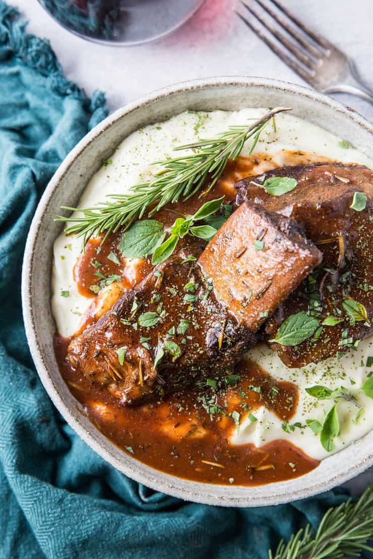 Instant Pot Red Wine Braised Short Ribs - a classic recipe for short ribs made easy in your pressure cooker   TheRoastedRoot.com