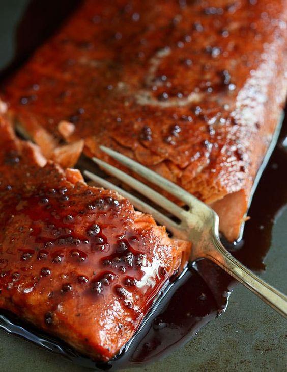 Tart Cherry Baked Salmon