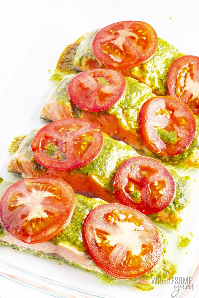 Pesto Baked Salmon Recipe