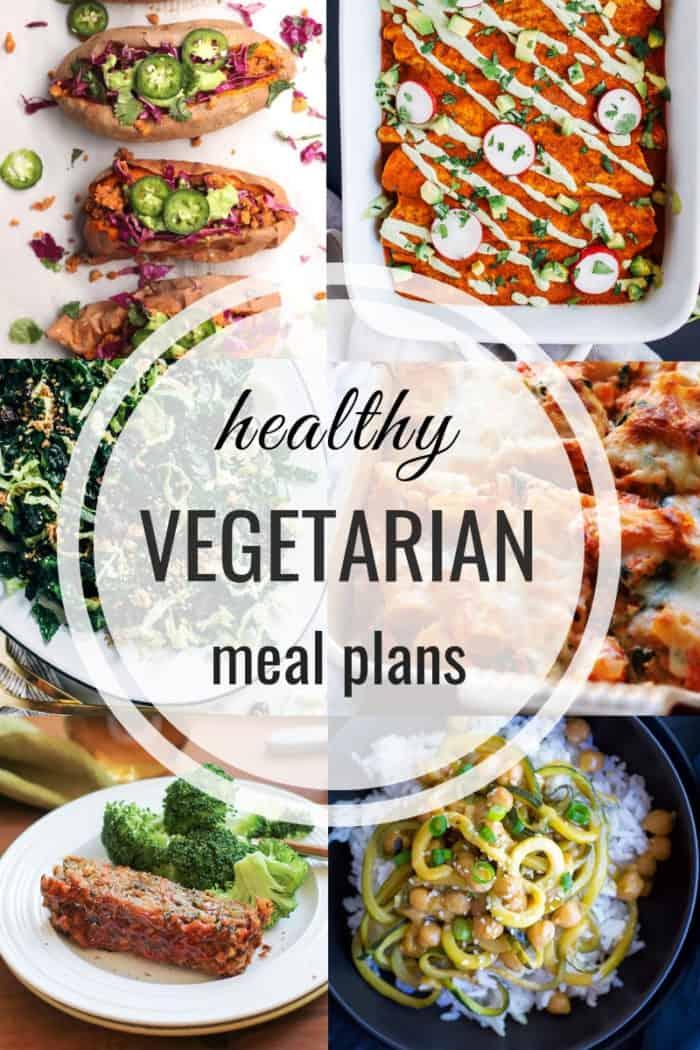 Healthy vegetarian meal plan