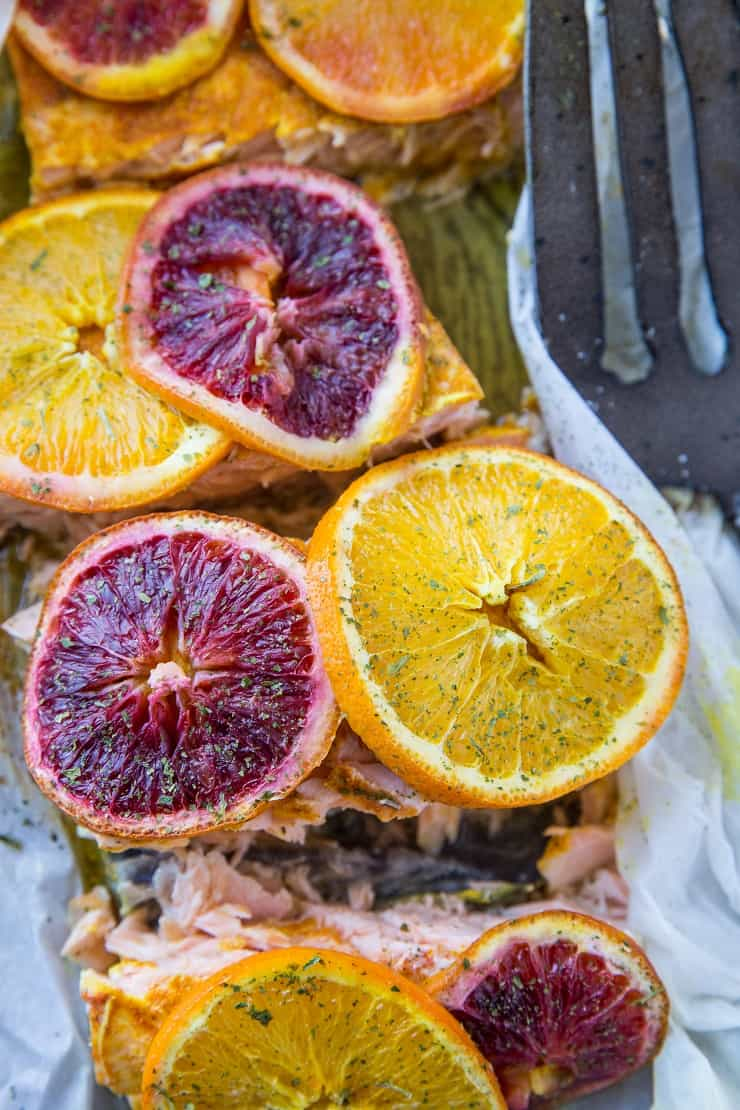 Citrus Ginger Turmeric Parchment Paper Salmon - an easy method for cooking salmon that results in a nutrient-dense entree