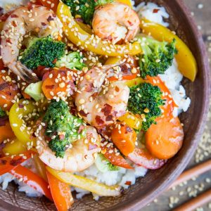 Orange-Ginger Shrimp Stir Fry - a healthy soy-free stir fry recipe | TheRoastedRoot.net