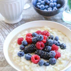 Paleo Cauliflower Breakfast Porridge - grain-free, vegan, dairy-free, plant-based and healthy | TheRoastedRoot.net #glutenfree #breakfast #recipe