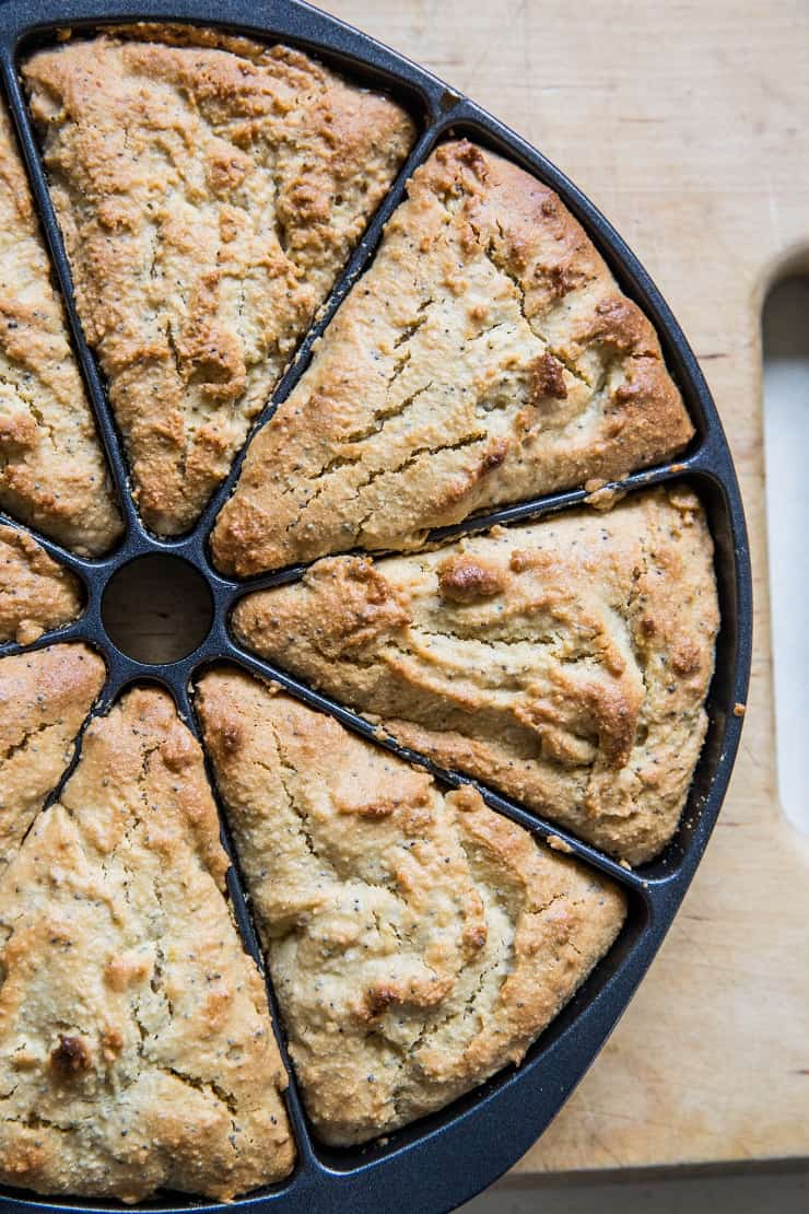 Vegan Lemon Poppy Seed Scones
