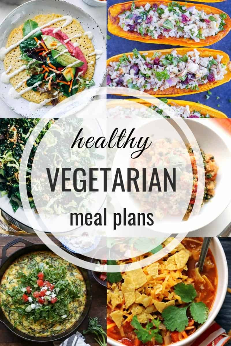 Healthy Vegetarian Meal Plan for the week of 4/28/2019
