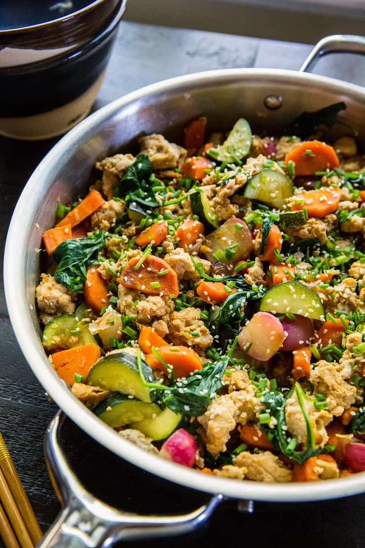 Teriyaki Ground Turkey Skillet With Vegetables The Roasted Root