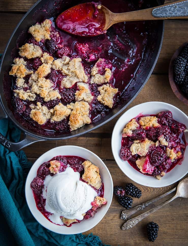 Paleo Blackberry Cobbler