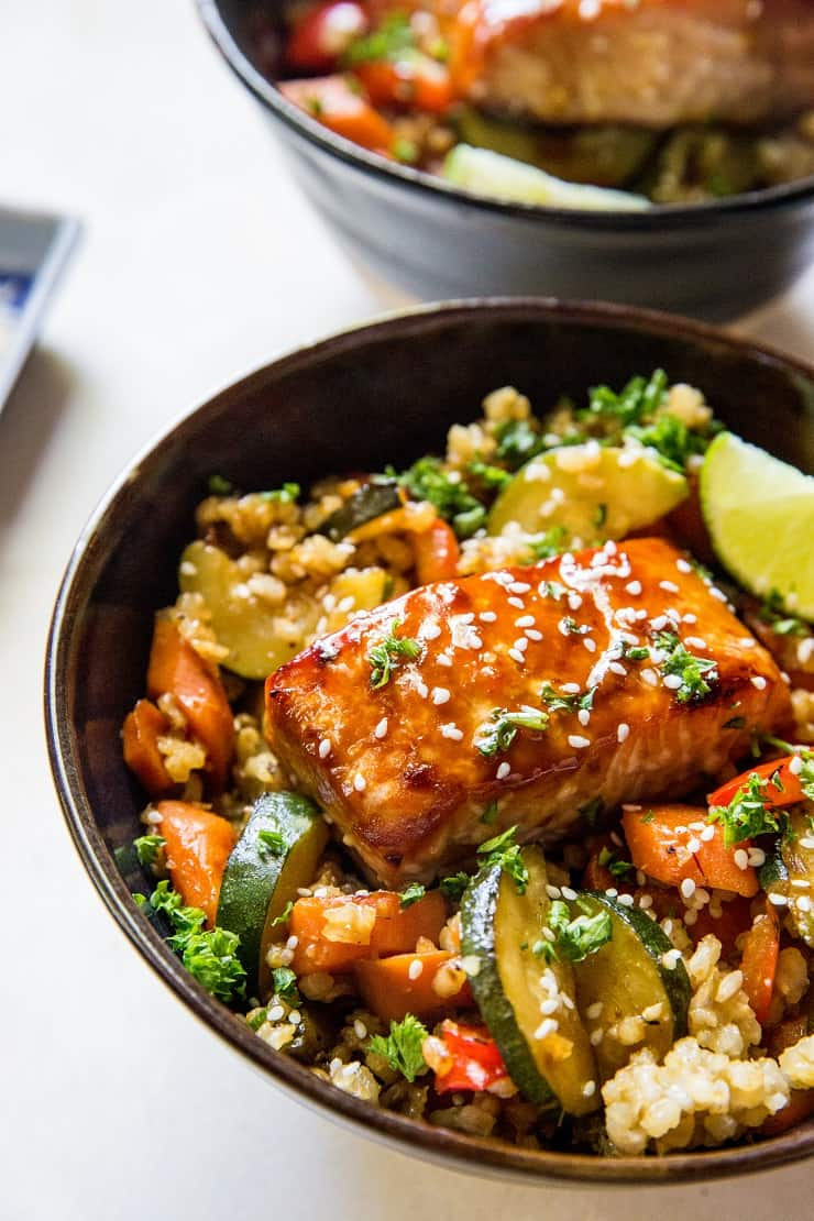 Teriyaki Salmon Bowls The Roasted Root