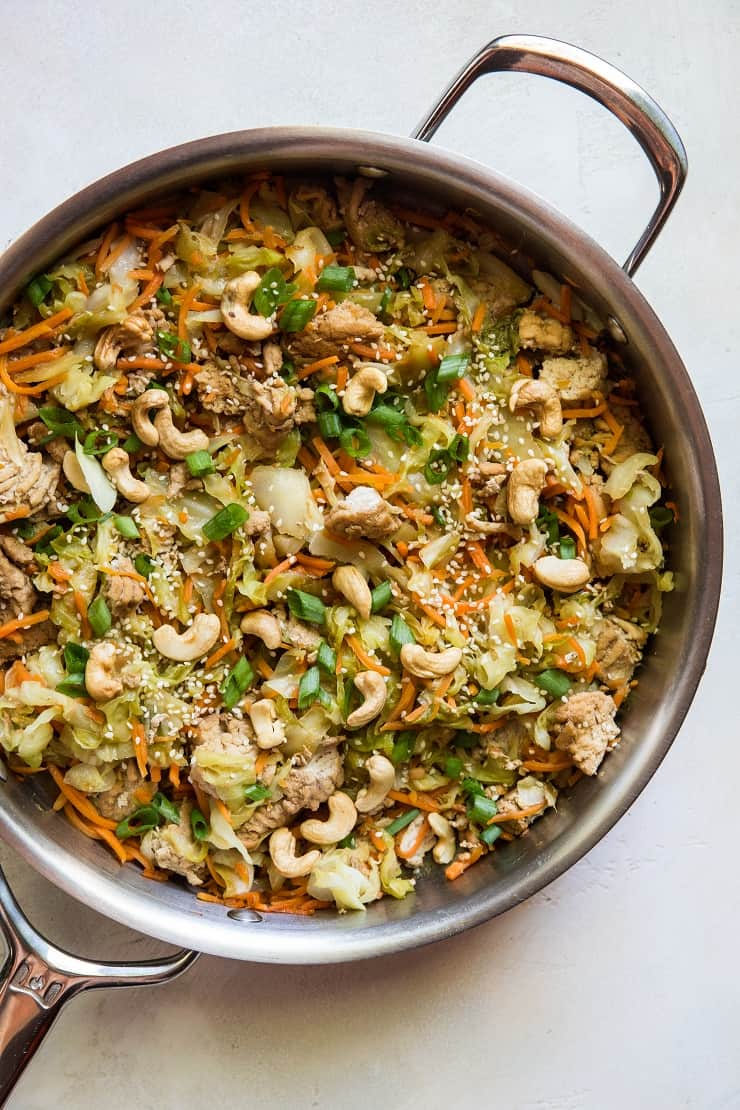 Ground Turkey Egg Roll Skillet - an easy, healthy dinner recipe