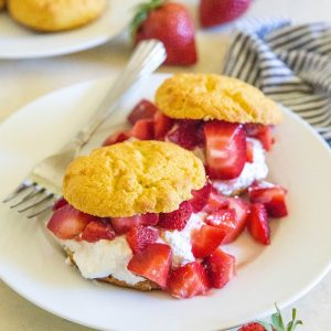 Low-Carb Strawberry Shortcake - a low-sugar keto dessert recipe | TheRoastedRoot.net