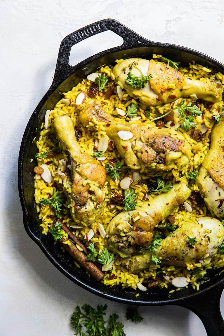 One-Skillet Indian Chicken Biryani - an easy recipe that is healthy and delicious | theRoastedRoot.net