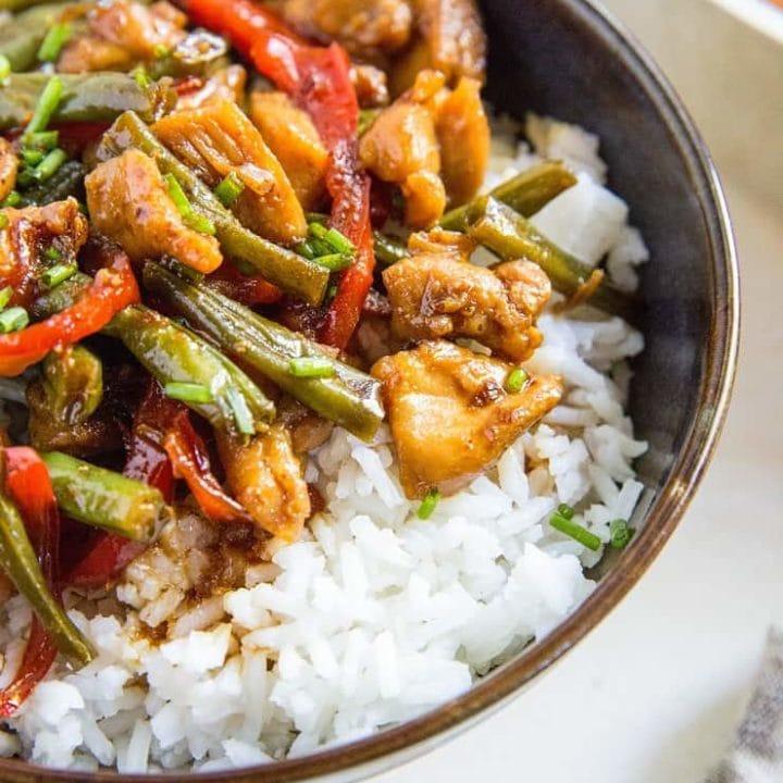 30-Minute Chicken Teriyaki Stir Fry - a quick, easy, and healthy dinner recipe! | TheRoastedRoot.net #glutenfree #paleo