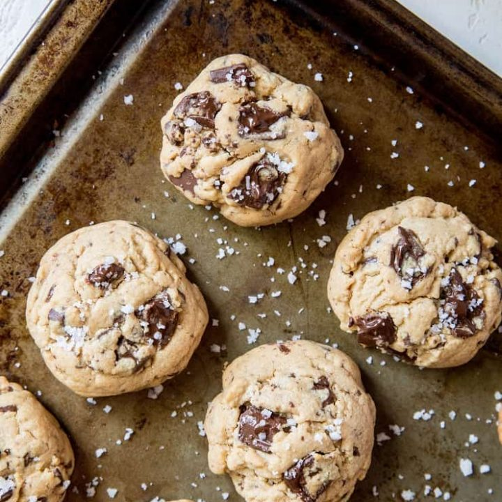 Gluten-Free Peanut Butter Chocolate Chip Cookies made with coconut sugar | TheRoastedRot.net