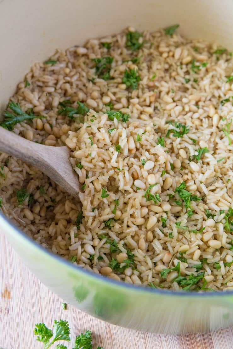 Homemade Rice Pilaf is easy to prepare on the stove top or in the Instant Pot! | TheRoastedRoot.net