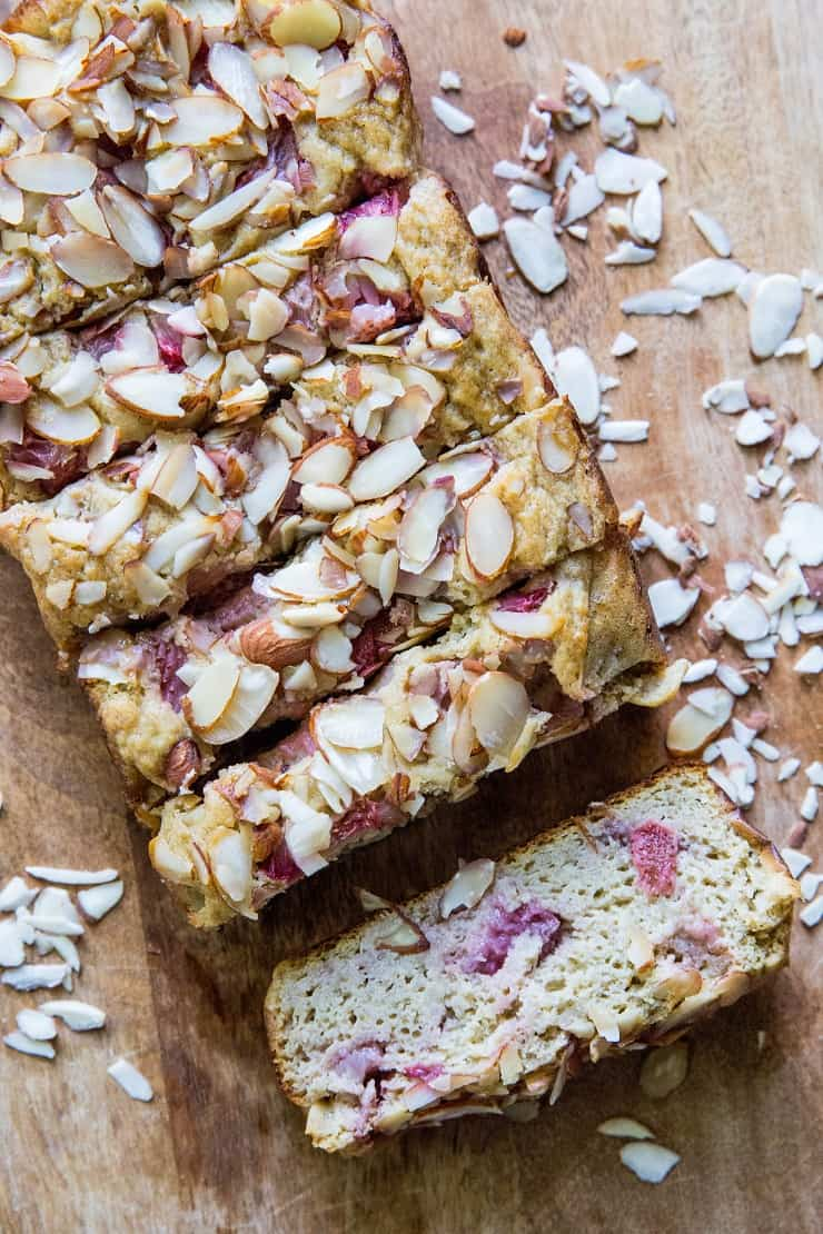 Grain-Free Paleo Strawberry Banana Bread made with coconut flour and coconut sugar | TheRoastedRoot.net #glutenfree #healthy