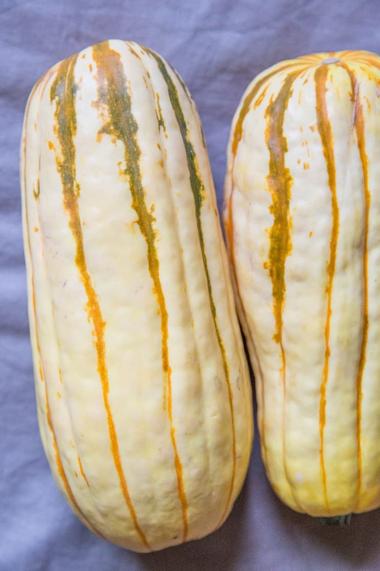 A photo tutorial on how to roast delicata squash