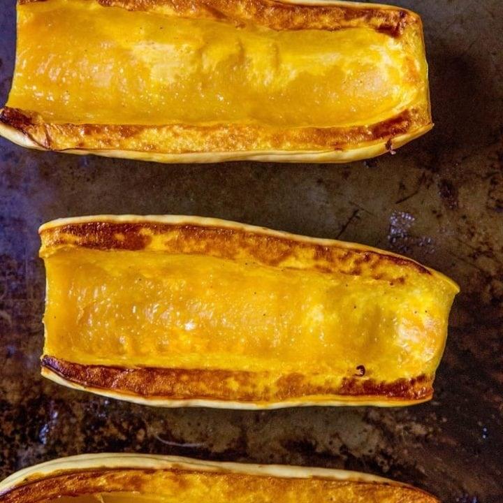 How to Roast Delicata Squash - an easy photo tutorial on preparing delicata squash, including recipe ideas | TheRoastedRoot.net
