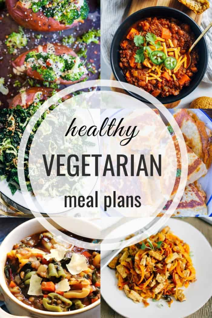 Healthy vegetarian meal plan for fall and winter