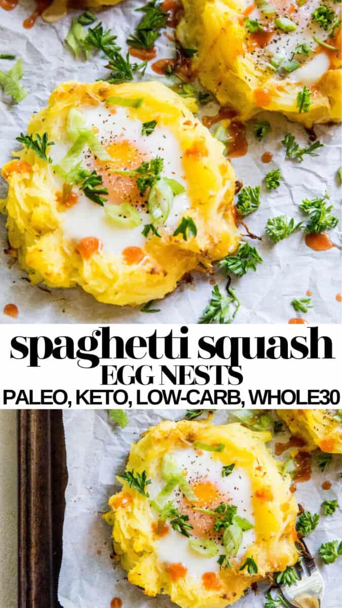 Spaghetti Squash Egg Nests - paleo, keto, low-carb, whole30