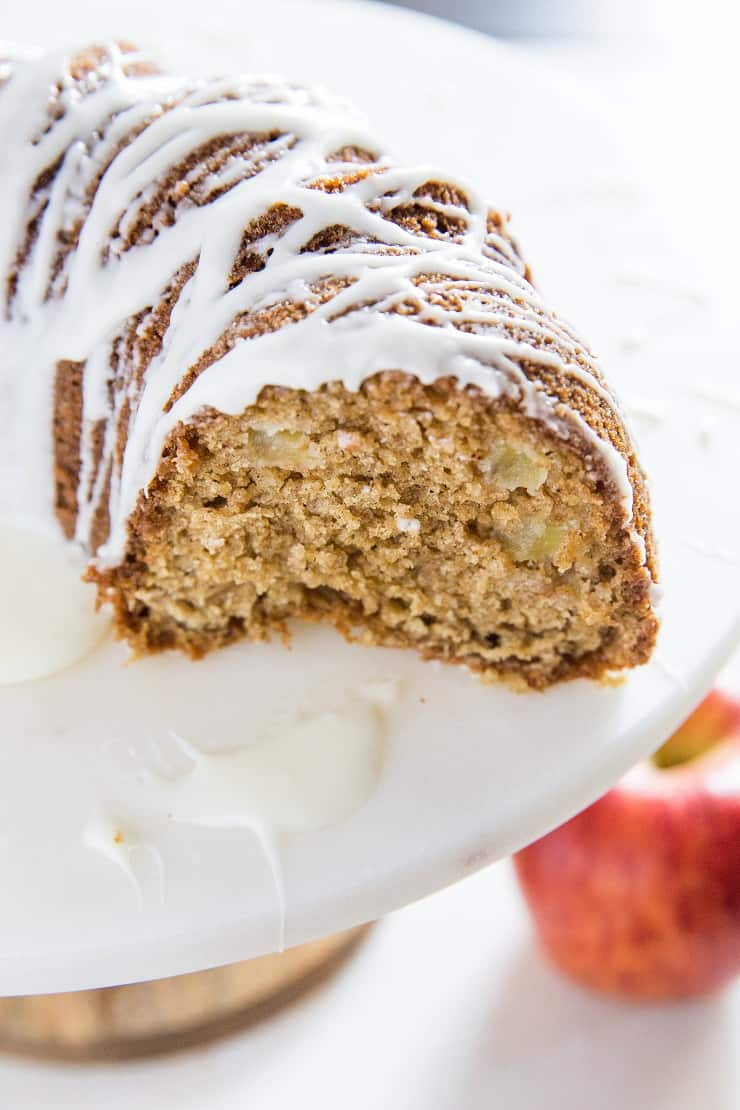Gluten-Free Apple Bundt Cake - refined sugar-free and dairy-free apple cinnamon bundt cake perfect for serving guests | TheRoastedRoot.net