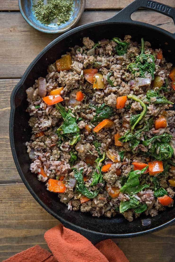 One Skillet Ground Beef And Wild Rice The Roasted Root