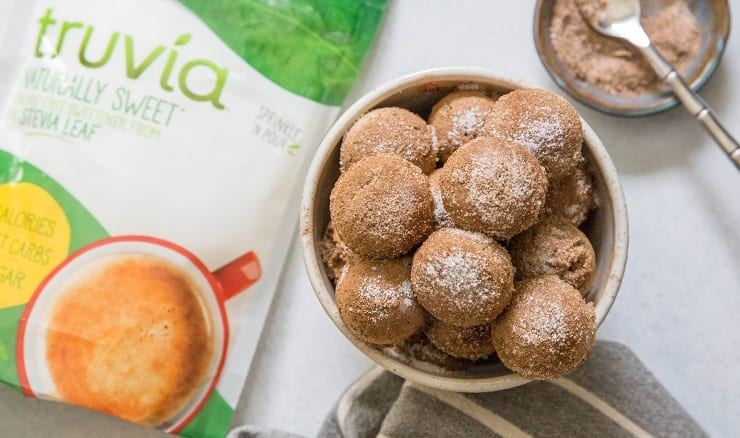 Cinnamon and Sugar Low-Carb Donut Holes | TheRoastedRoot.net