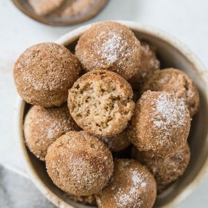 Keto Donut Holes made with almond flour - a low-carb donut recipe | TheRoastedRoot.net #glutenfree #dairyfree